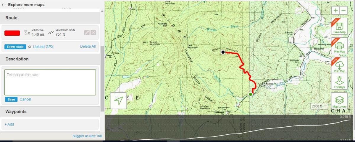 Wilson Mountain (W4G/HC-012)12/16/2017
